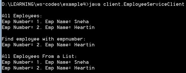 Lab] Soap Web Service with Collection Types and Generating Client