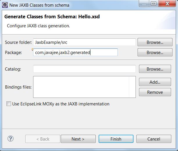 Lab] JAXB 2 Marshaling and Unmarshaling with XSD to Java